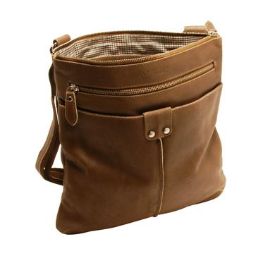 Ashwood – Antique Tan Cow Vintage Distressed Leather Camden Messenger Day Bag