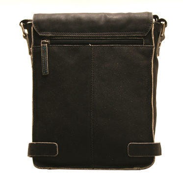 Ashwood – Antique Black A4 Cow Vintage Leather Camden Messenger Bag