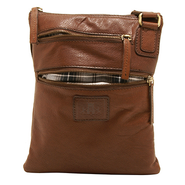 Rowallan – Small Brown Body Cross Messenger Bag in Soft Gaucho Leather