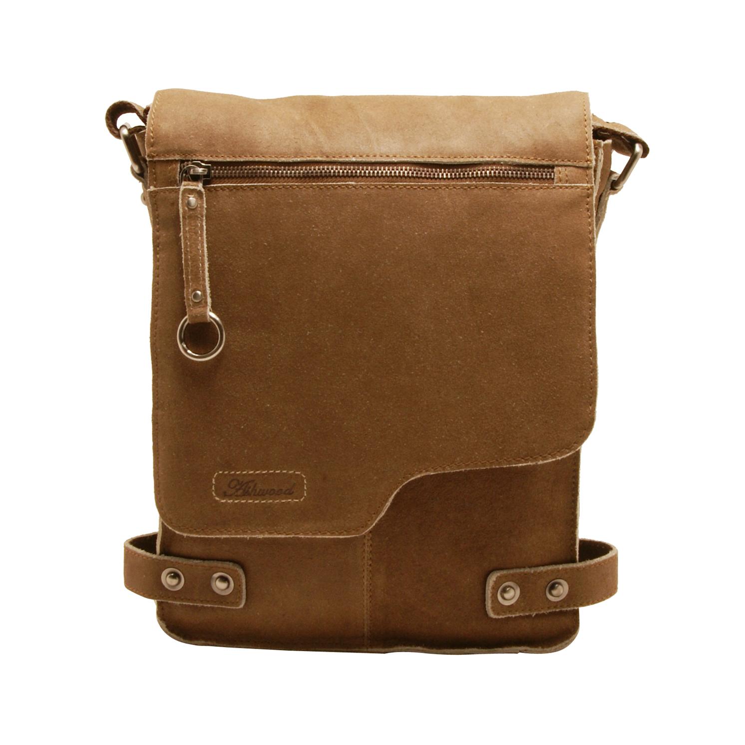 Ashwood – Antique Tan A4 Cow Vintage Leather Camden Messenger Bag