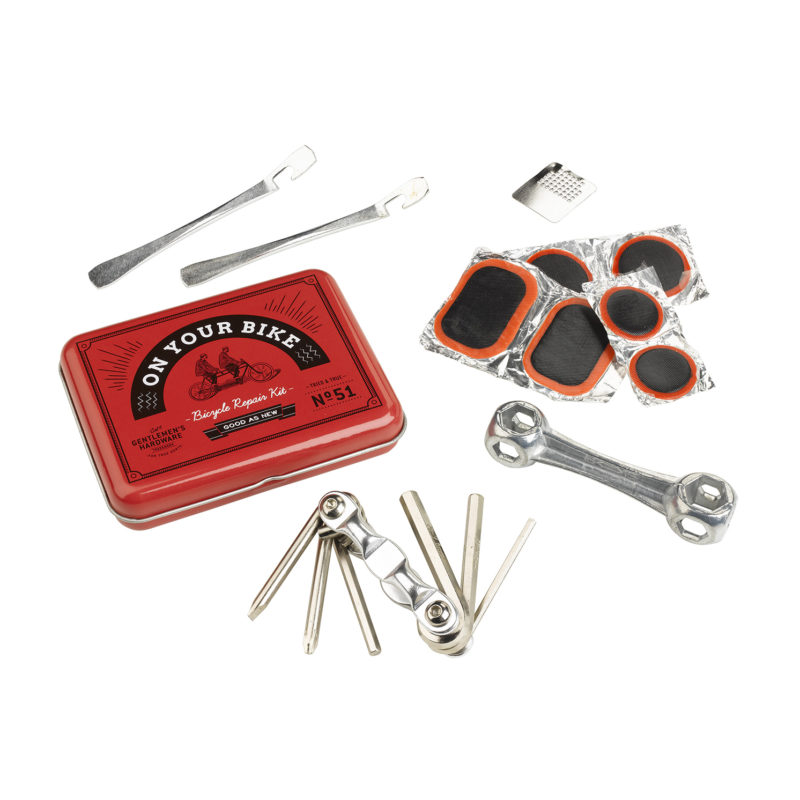 Gentlemen's Hardware – Bicycle Repair Kit in Vintage Style Metal Tin