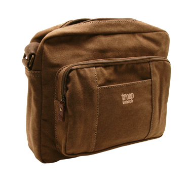Troop London – Brown Classic Body/Messenger Bag in Canvas-Leather