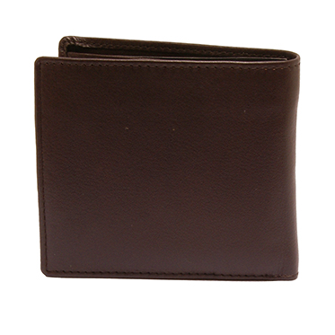 PellMell – Soft Brown Leather Coin Purse Wallet with Engraved Angler Design
