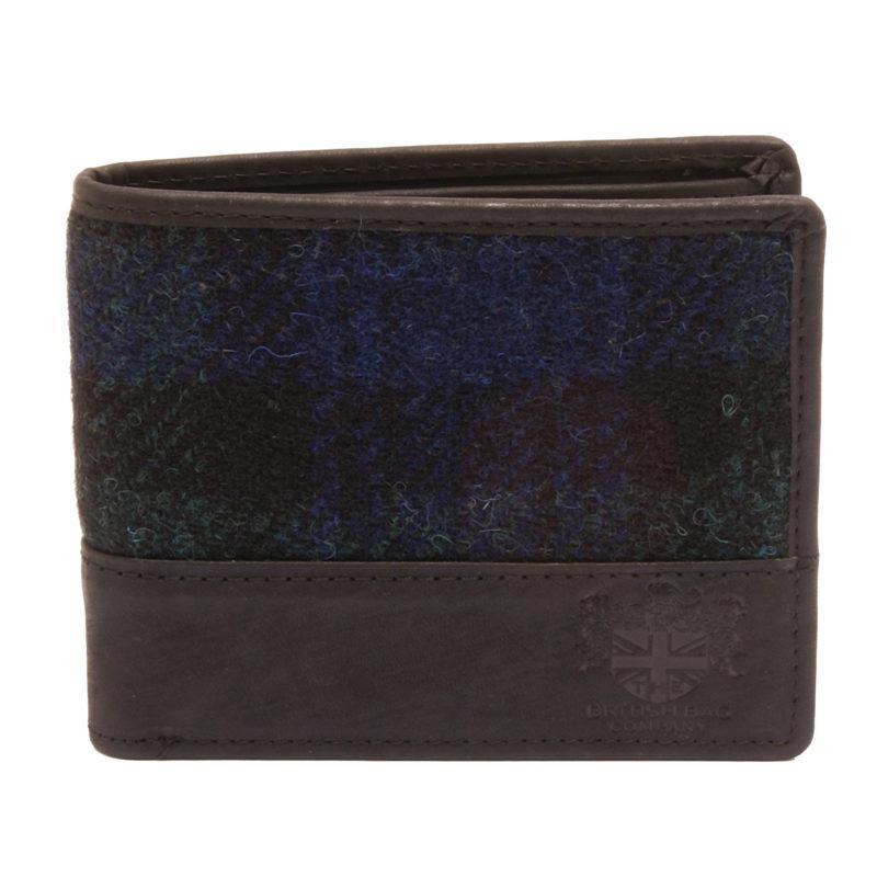 The British Bag Company – Bragar Harris Tweed Wallet with Black Leather Trim