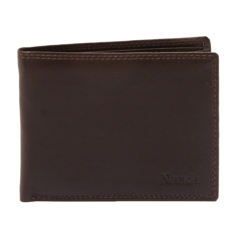Hansson – Brown Leather Nevada Billfold Wallet with Coin Purse