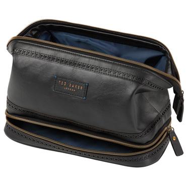 Ted Baker – Black Brogue Cables and Clobber Bag/Wash Bag