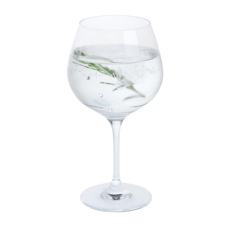 Dartington Crystal – Glitz Collection Copa Gin & Tonic Single Glass in Gift Box