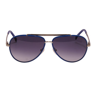 Lacoste – Blue and Silver Aviator Style Sunglasses