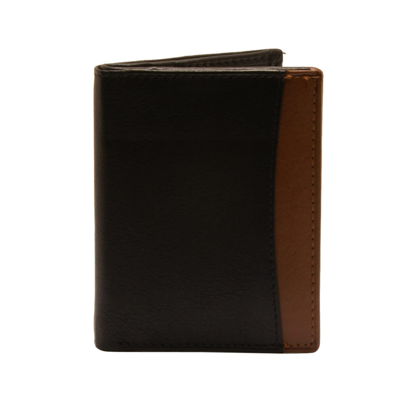 Rowallan – Black Full Grain Soft Cowhide Leather Credit Card Wallet