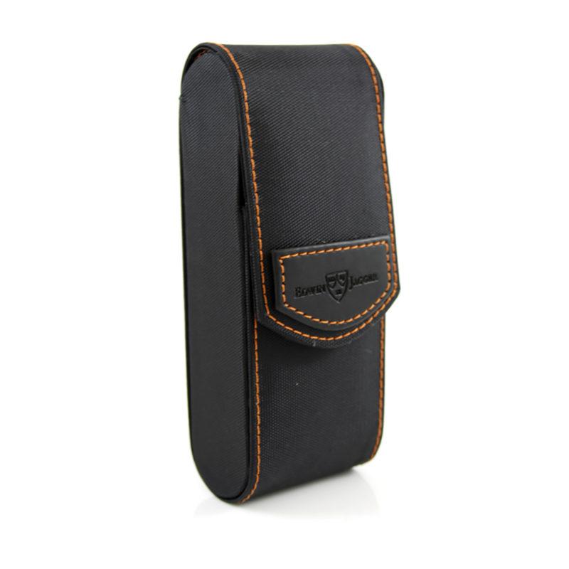 Edwin Jagger – Black Textured Razor Travel Case in Gift Box