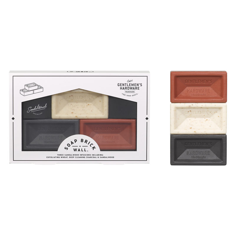 Gentlemen's Hardware – 3 Mini Brick Soap Set in Presentation Gift Box