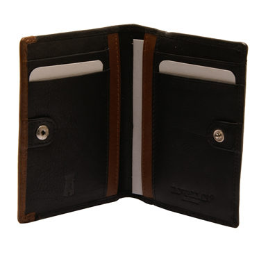 Rowallan – Black Full Grain Soft Cowhide Leather Credit Card/ID Holder