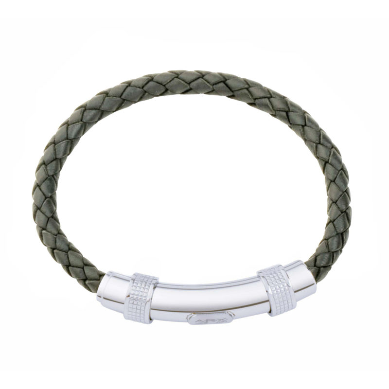 Jos Von Arx – Grey Leather Integrated Bracelet
