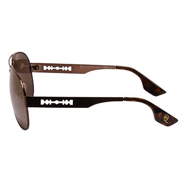 Alexander McQueen – Bronze Metal Aviator Sunglasses with Case
