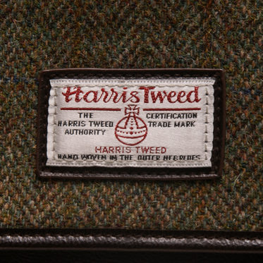 The British Bag Company – Green Check Harris Tweed Hunter Messenger Bag