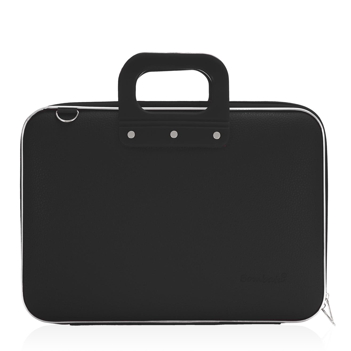 Bombata – Black Medio Classic 13″ Laptop Case/Bag with Matching Shoulder Strap