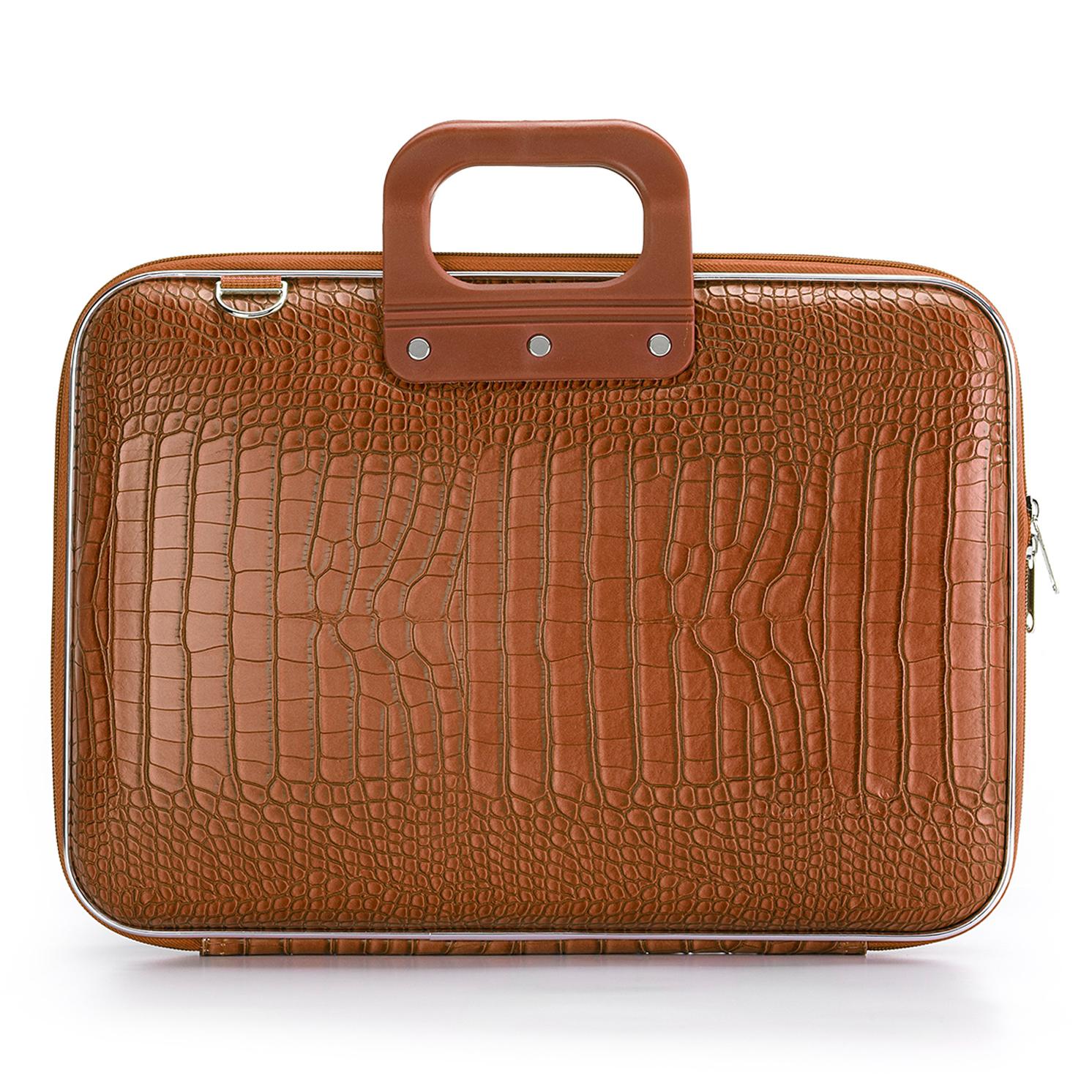 Bombata – Terracotta Brown Cocco 15″ Laptop Case/Bag with Shoulder Strap