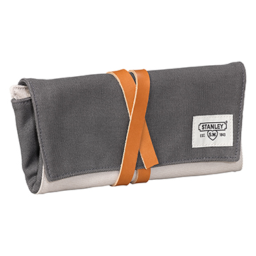Stanley Tools – Grey Canvas Tool Wrap with Leather Strap