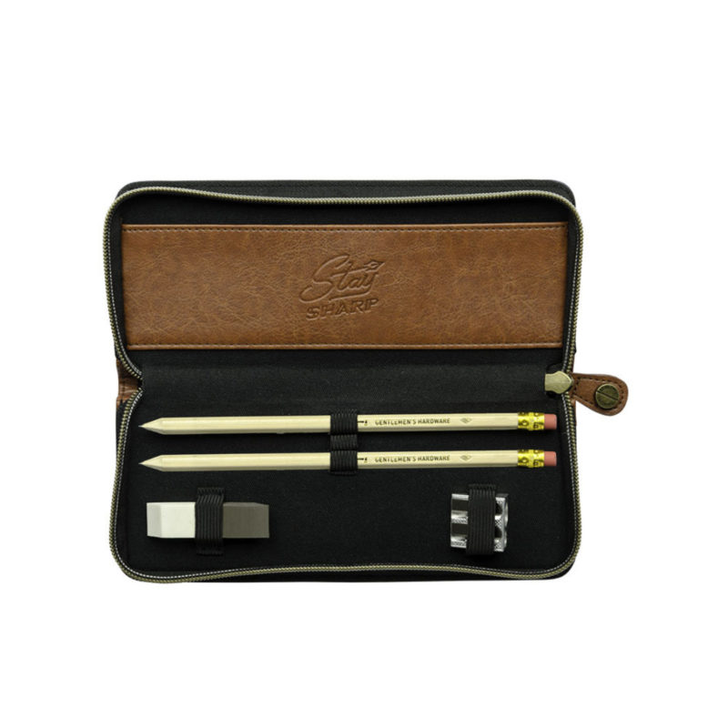 Gentlemen's Hardware – Charcoal Grey Pencil Case Set