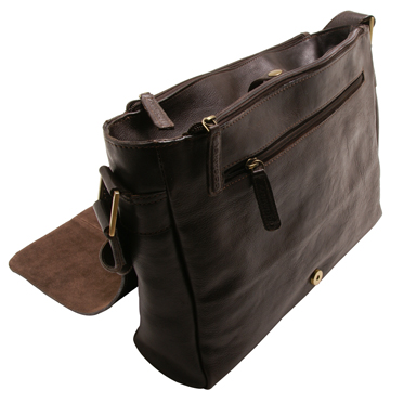 Ashwood – Brown Pedro Messenger Laptop Compatible Bag in Natural Cow Tumble Leather