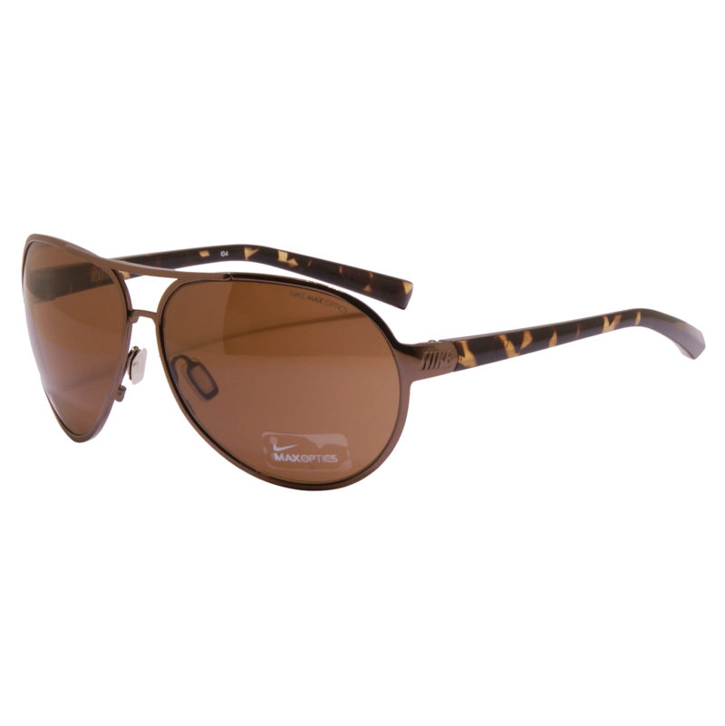 Nike – Brown Alaris Aviator Sunglasses