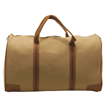 Home Works – Cream Canvas Travel Holdall/Bag with Shoulder Strap
