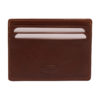 Hansson – Brown Italian Leather Card Wallet with Coin Purse and RFID Protection