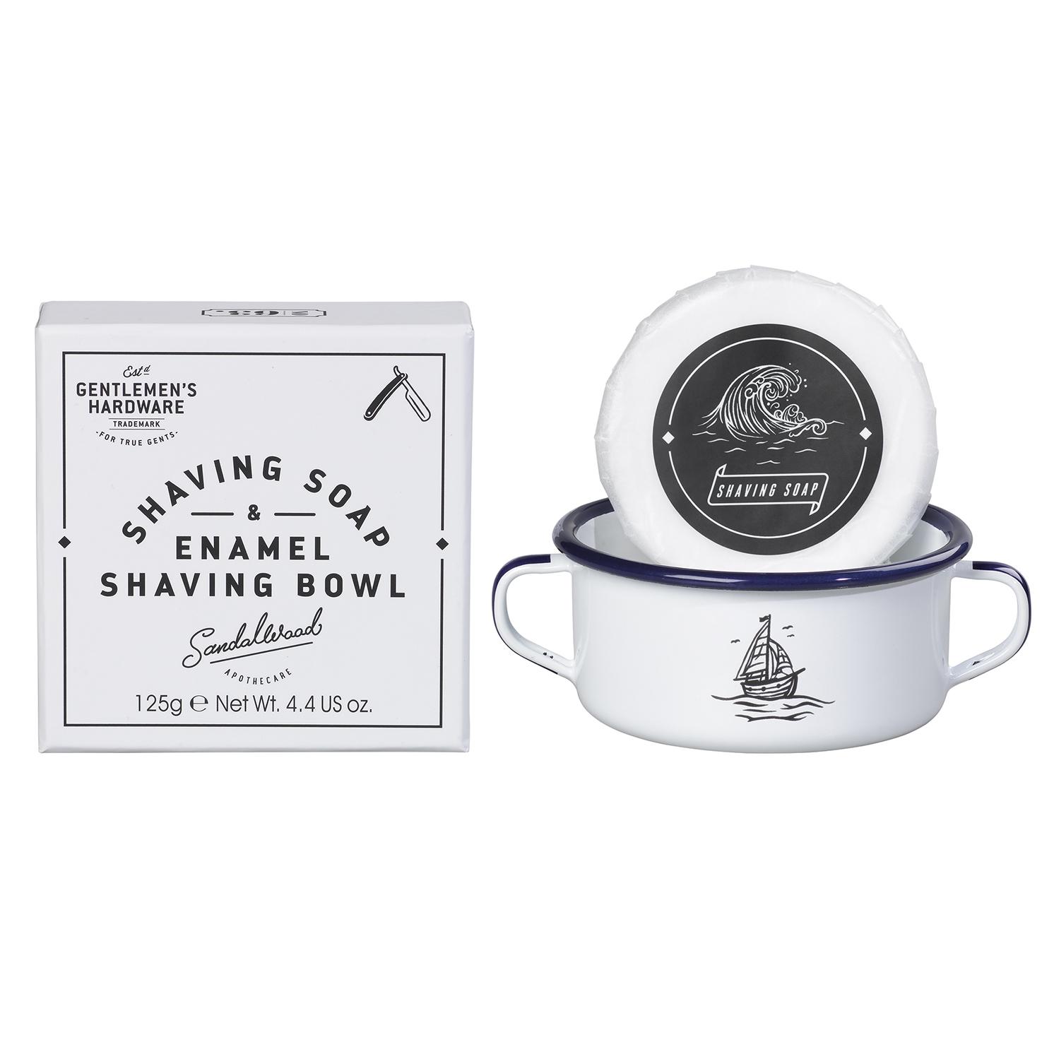 Gentlemen's Hardware – Shaving Soap & Enamel Shaving Bowl in Presentation Box