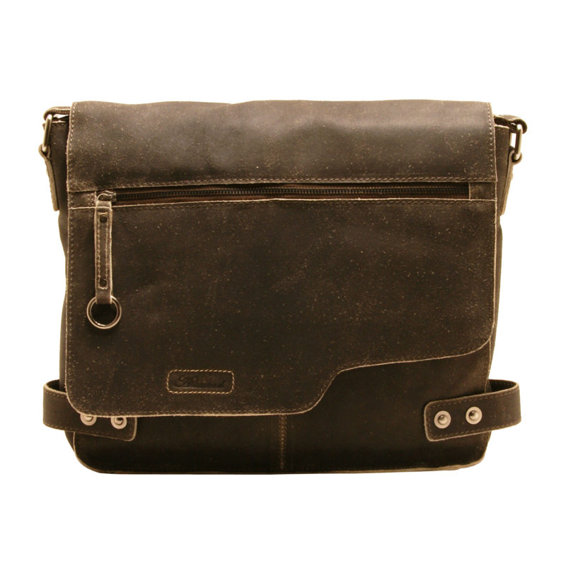 Ashwood – Antique Brown Distressed Cow Vintage Leather Camden Messenger Bag