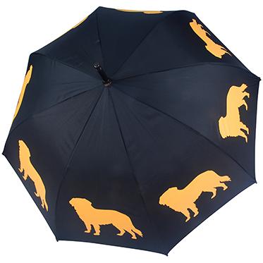 Soake –  Golden Retriever Black/Gold Automatic Stick Umbrella from the San Francisco Range