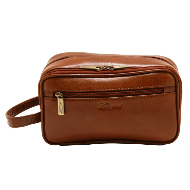 Ashwood – Chestnut Brown Vegetable Tanned Buffalo Leather Chelsea Wash Bag