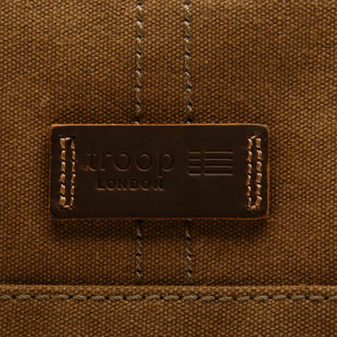 Troop London – Brown Heritage Messenger Bag in Canvas-Leather