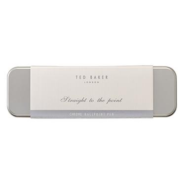 Ted Baker – Chrome Premium Ballpoint Pen in Presentation Gift Tin