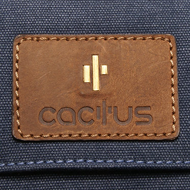 Cactus – Small Cross Body Satchel Messenger Bag in Denim Blue Canvas