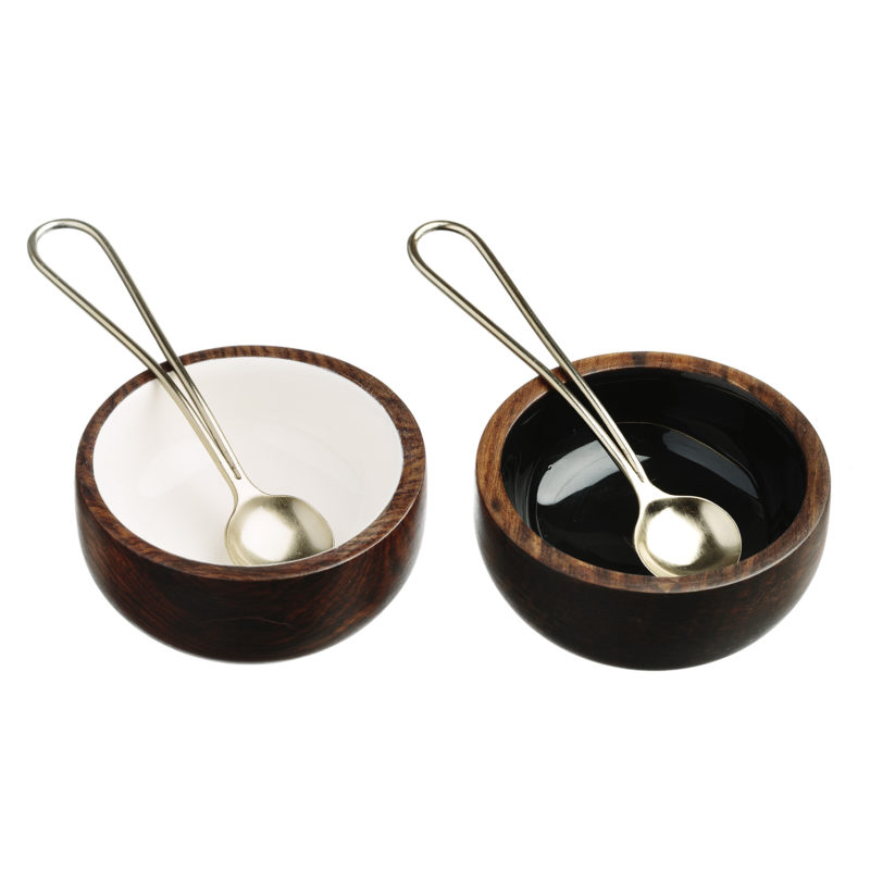 The Just Slate Company – Sheesham Wood Condiment Set in Presentation Box