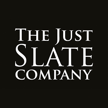 The Just Slate Company – Set of 4 Gold Trim Horn Coasters in Gift Box