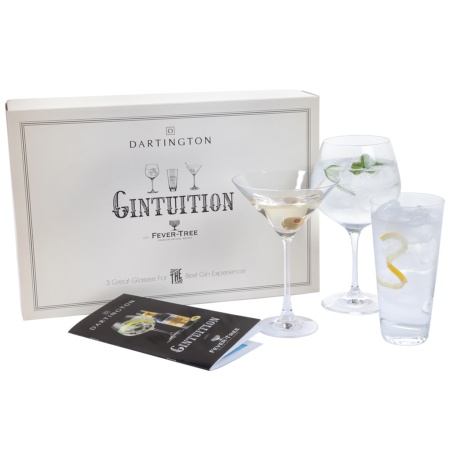 Dartington Crystal – Gintuition Three Pack Gin Glass Set in Presentation Box