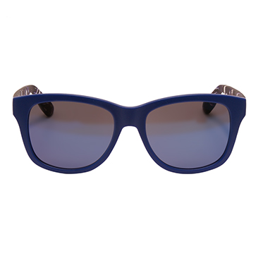 Alexander McQueen – Matt Blue Marble Rectangular Classic Sunglasses with Case