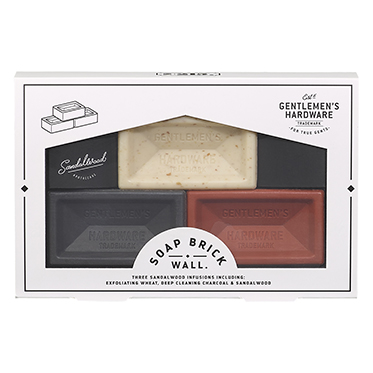Gentlemen's Hardware – 3 Mini Brick Soap Set in Presentation Gift Box