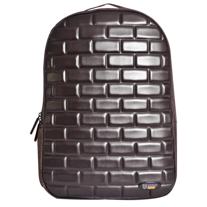 Urban Junk – Brixi Brown 3rd Dimension Embossed Rucksack/Backpack