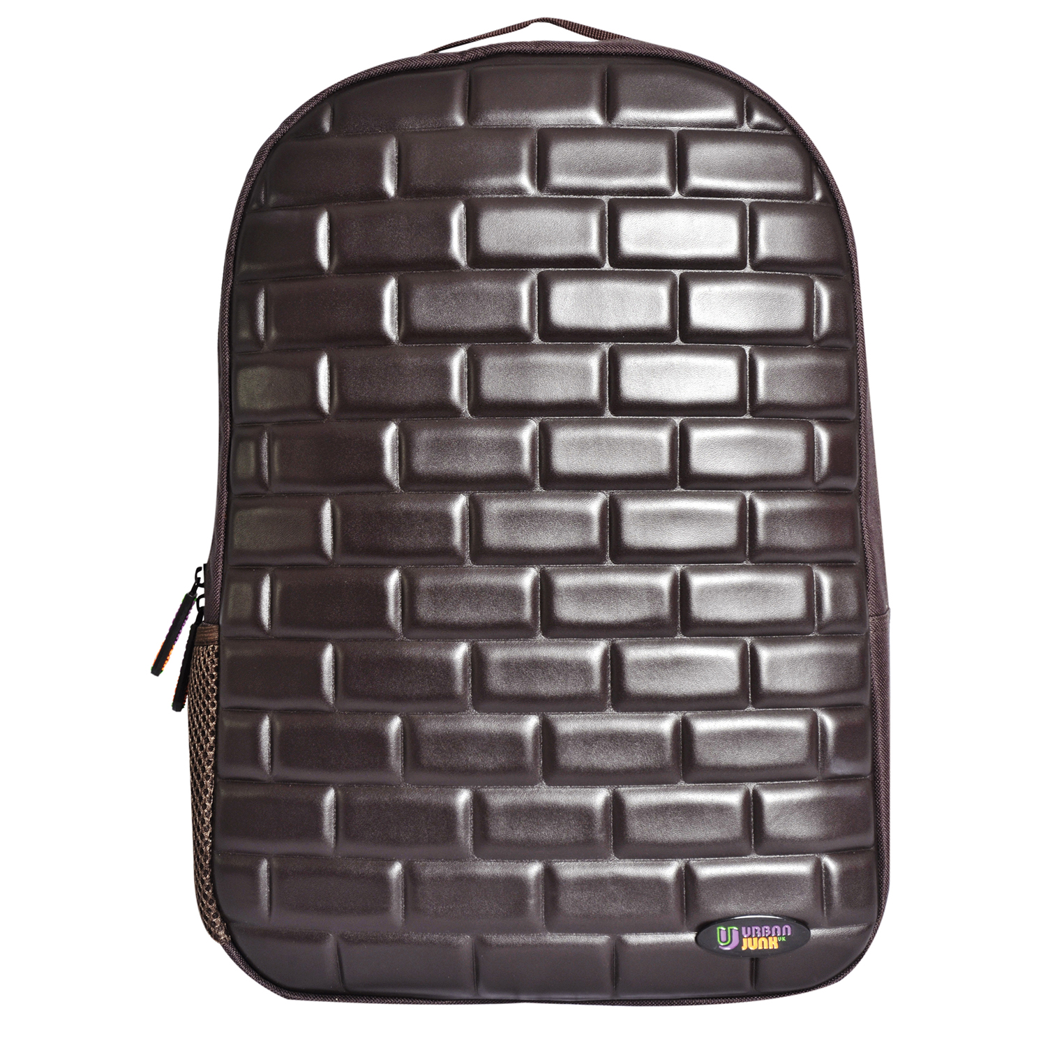 Urban Junk – Brixi Brown 3rd Dimension Embossed Rucksack/Backpack
