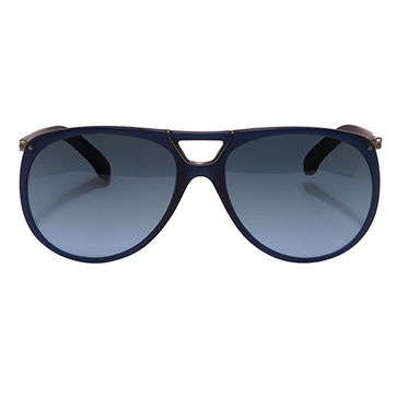 Calvin Klein CK – Blue Large Aviator Style Sunglasses with Case