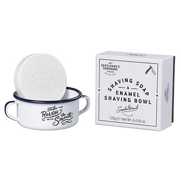 Gentlemen's Hardware – Shaving Soap & Enamel Shaving Bowl in Presentation Box