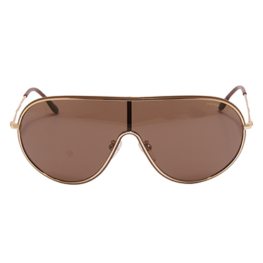 Police – Gold Metal Shield Style Sunglasses with Case