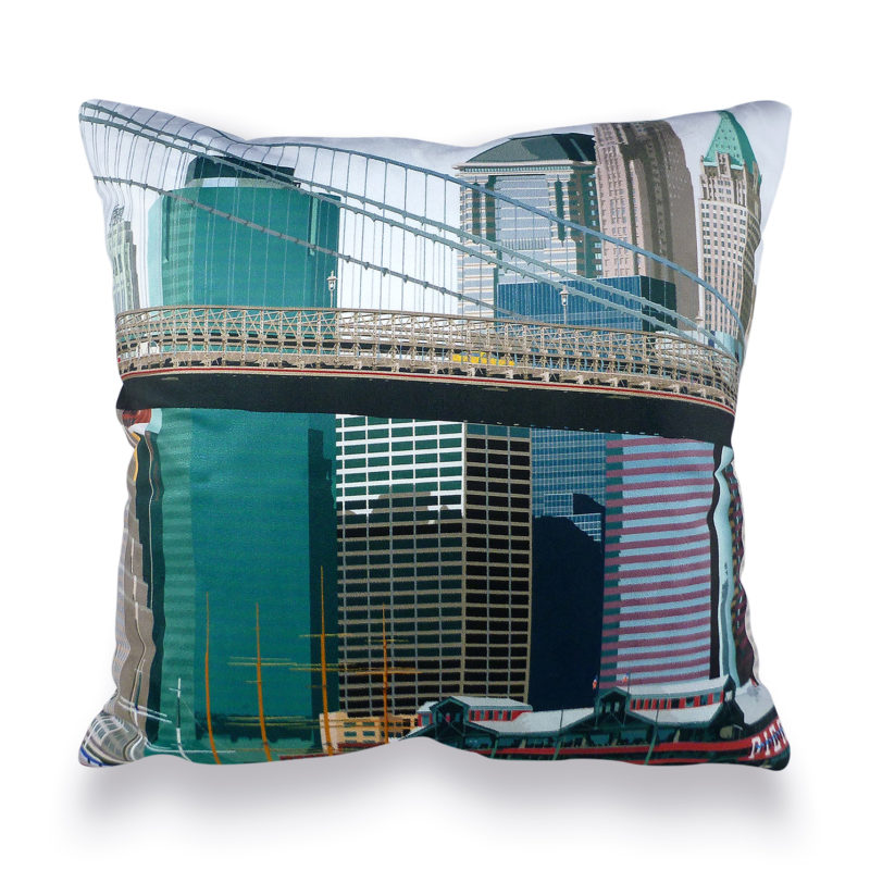 Leslie Gerry – New York Pier 17 Cushion