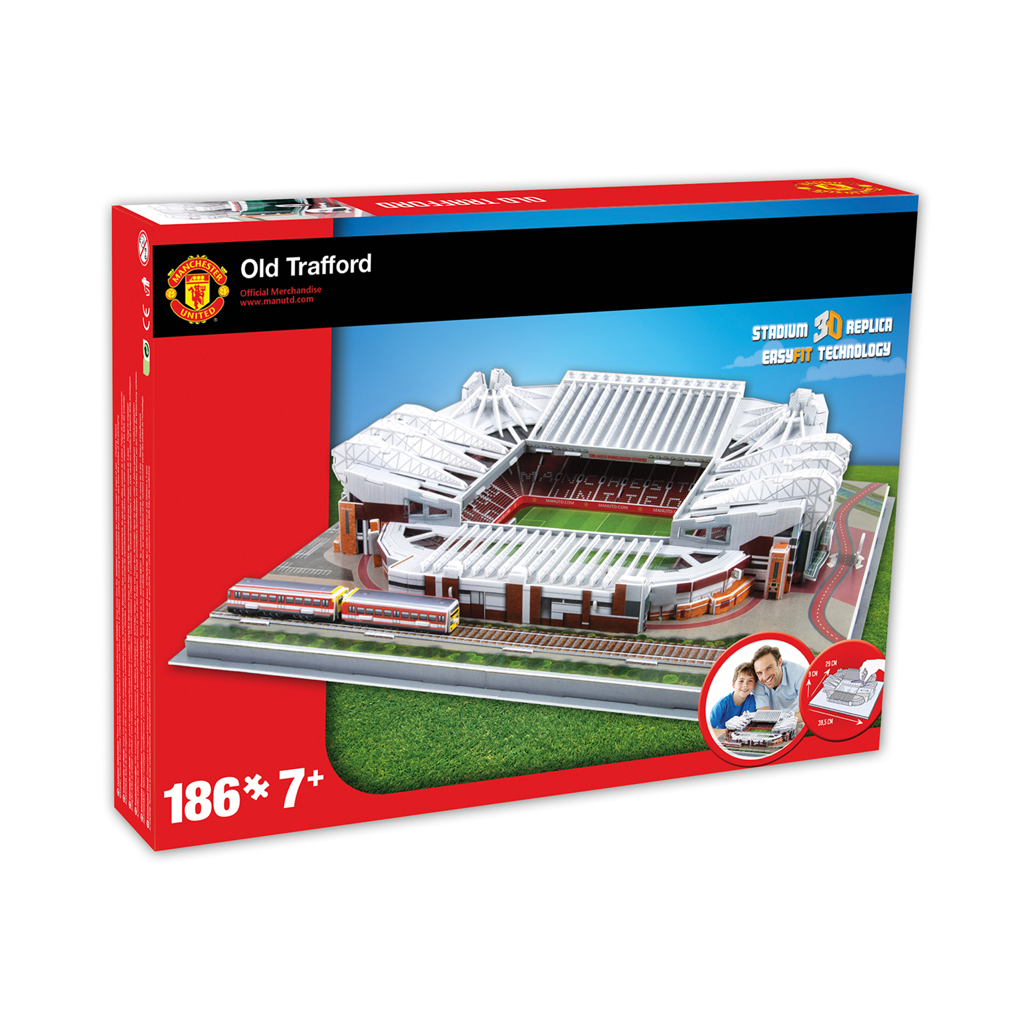 Paul Lamond Games – Manchester Utd Old Trafford Stadium 3D Puzzle