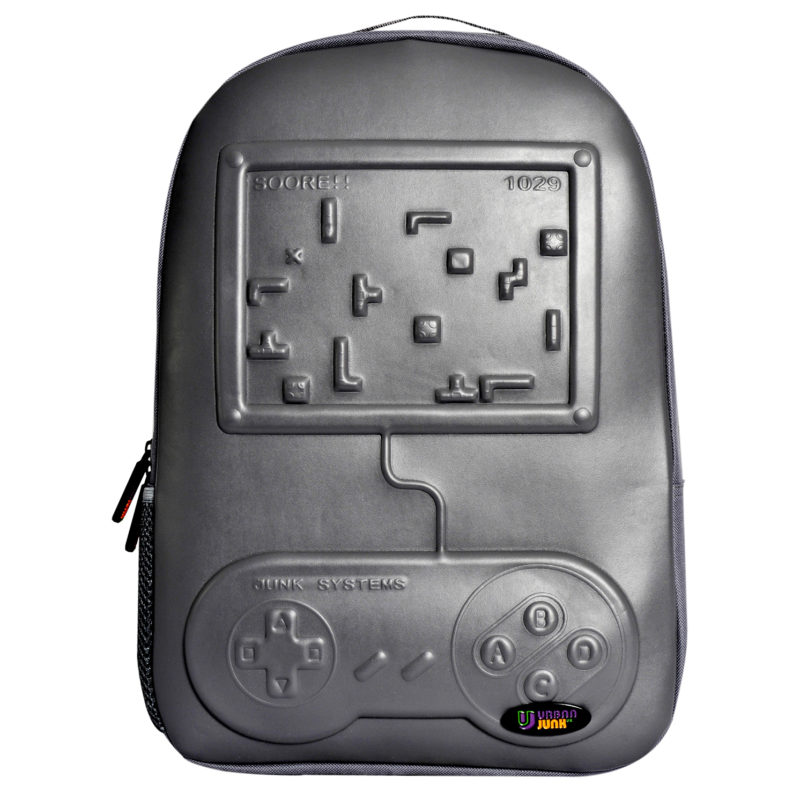 Urban Junk – Arcade Grey 3rd Dimension Embossed Rucksack/Backpack
