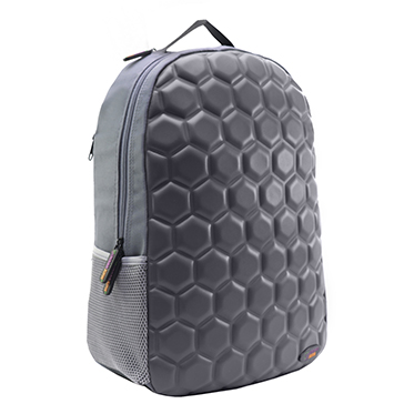 Urban Junk – Hex Grey 3rd Dimension Embossed Rucksack/Backpack