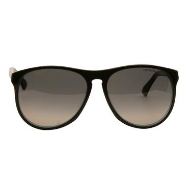 Emporio Armani – Black with Turquoise Back Wayfarer Aviator Sunglasses