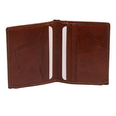 Hansson – Brown Italian Leather Credit Card Wallet with RFID Protection